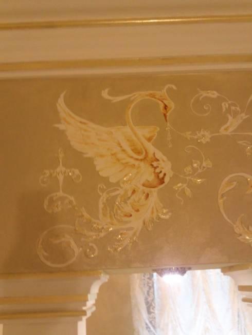орнамент и золочение: Ванные комнаты в . Автор – Абрикос