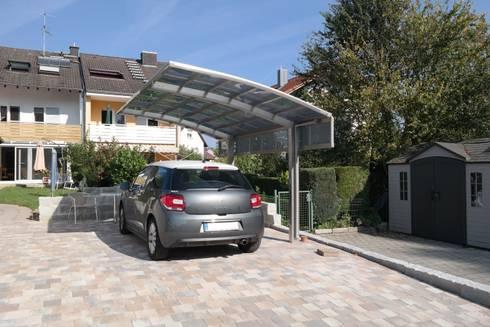 carports aus aluminium von von deutsche carportfabrik gmbh co kg homify. Black Bedroom Furniture Sets. Home Design Ideas