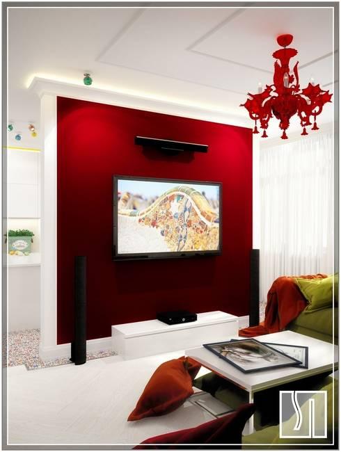 eclectic Living room by Студия дизайна Светланы Исаевой