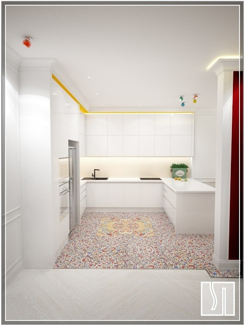 eclectic Kitchen by Студия дизайна Светланы Исаевой
