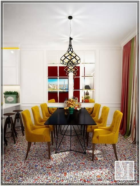 столовая: Столовые комнаты в . Автор – Студия дизайна Светланы Исаевой