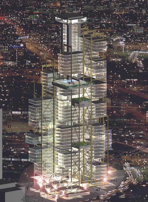 Metin Hepgüler – Maslak Yüksek Blok:  tarz Ofisler ve Mağazalar