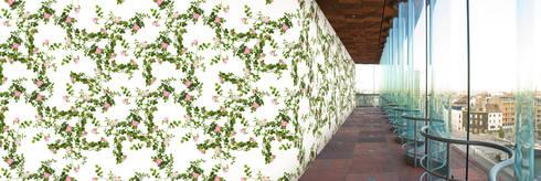Muurbloem Design Studio_Collection Flowers + Leaves_Botanical Rose:  Muren & vloeren door Muurbloem Design Studio