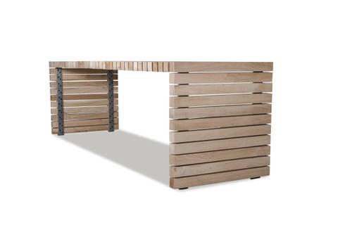 Table Balken: minimalistisch Balkon, veranda & terras door VanJoost