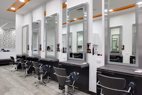 Salon Express 6 Cutting Stations:  Commercial Spaces by Natasha Fowler Design Solutions
