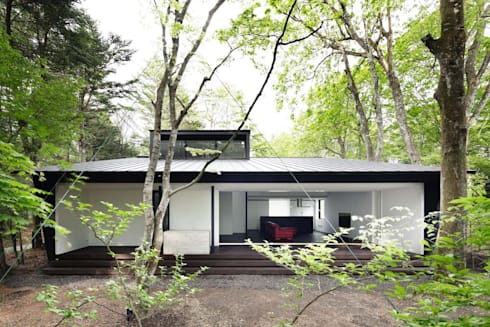 外観~軽井沢Cさんの家: atelier137 ARCHITECTURAL DESIGN OFFICEが手掛けた家です。