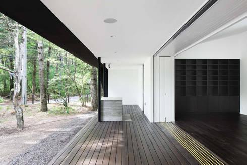 テラス~軽井沢Cさんの家: atelier137 ARCHITECTURAL DESIGN OFFICEが手掛けたベランダです。