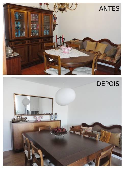 Sala de jantar:   por GAAPE - ARQUITECTURA, PLANEAMENTO E ENGENHARIA, LDA
