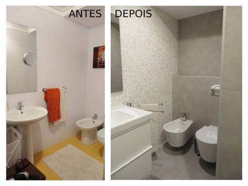 Quarto de banho:   por GAAPE - ARQUITECTURA, PLANEAMENTO E ENGENHARIA, LDA