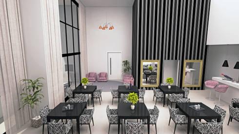 Salão de festas - vista 02: Casas modernas por DE-H ARQUITETURA