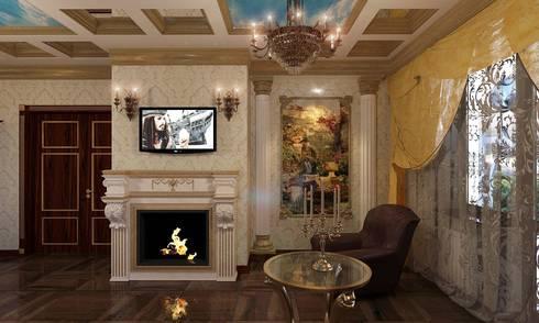 гостиная в частном доме:  в . Автор – частный дизайнер