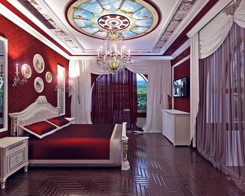 спальня в частном доме:  в . Автор – частный дизайнер