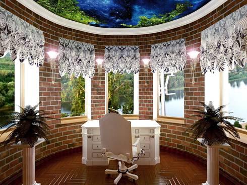 кабинет в частном доме:  в . Автор – частный дизайнер