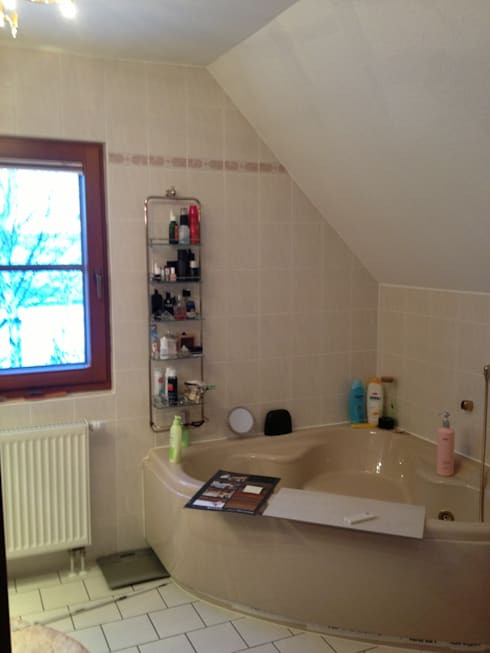 Sanierung eines Bades und eines Gästebades:   von Ihr Einrichter Deco und Interieur Ralf Leuter