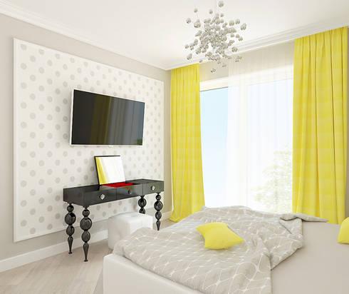 Гостевая спальня:  в . Автор – Milana Gulam Design