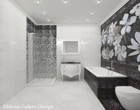 Основной санузел:  в . Автор – Milana Gulam Design