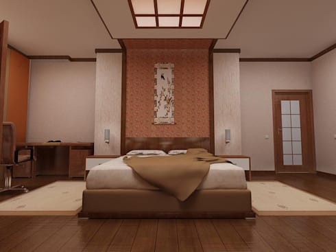 bedroom design:  в . Автор – Murat Sabekov