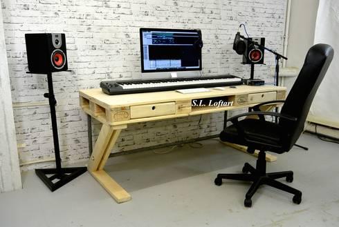 s.l. loftart' musik oder arbeit? palettenschreibtisch oder pro ... - Paletten Schreibtisch