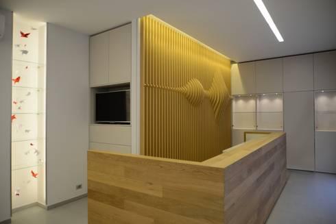 Onde sonore: Negozi & Locali commerciali in stile  di ministudio architetti