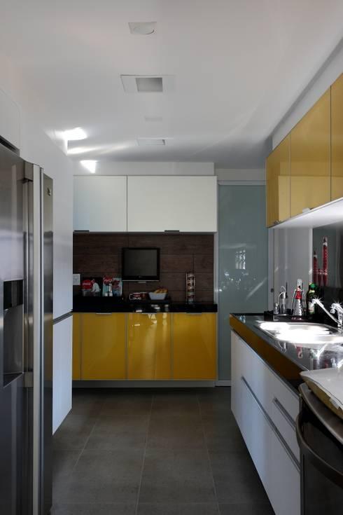 Apto 1000 1000: Cozinhas modernas por Carlos Otávio Arquitetura e Interiores