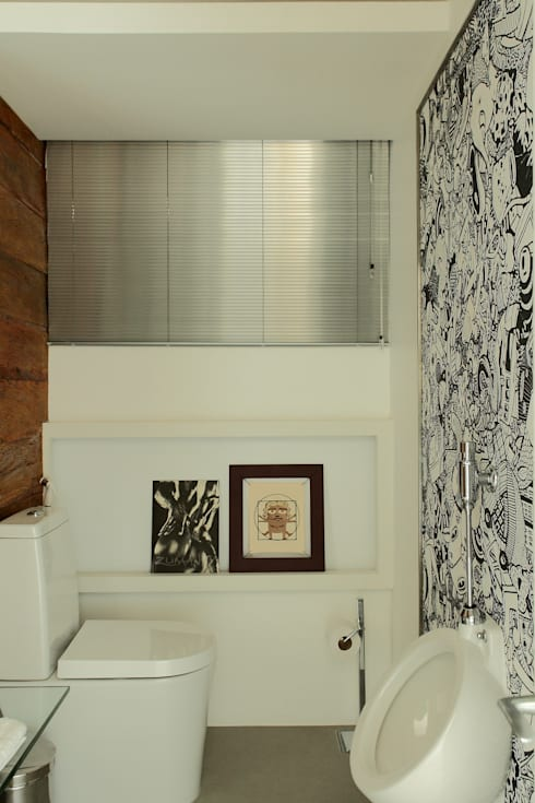 Apto 1000 1000: Casas de banho modernas por Carlos Otávio Arquitetura e Interiores