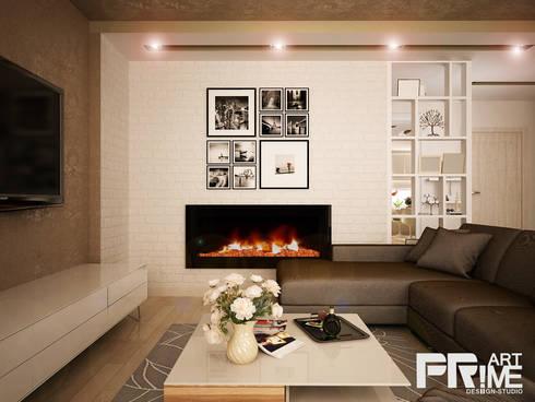 Квартира-студия в современном стиле: Гостиная в . Автор – 'PRimeART'