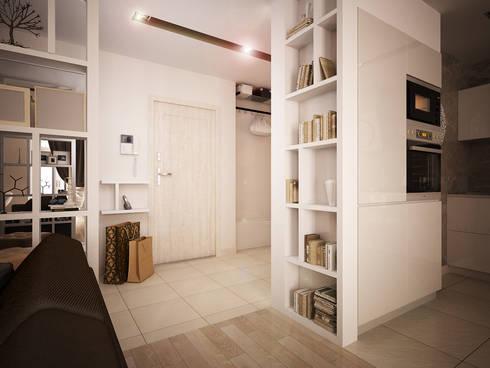 Квартира-студия в современном стиле: Коридор и прихожая в . Автор – 'PRimeART'
