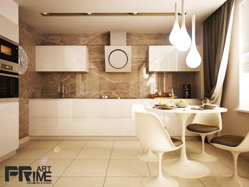 Квартира-студия в современном стиле: Кухни в . Автор – 'PRimeART'