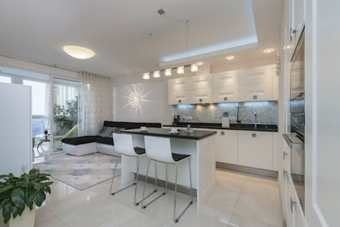 кухня-гостиная в проекте Перламутр:  в . Автор – S-studio