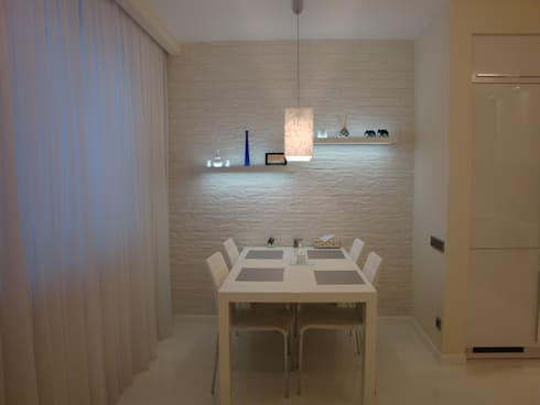 Белая квартира в скандинавском стиле:  в . Автор – S-studio