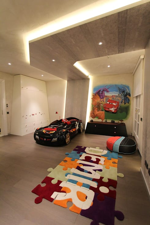 Contemporary Classical Villa in Kemer Golf & Country:  Nursery/kid's room by Orkun İndere Interiors