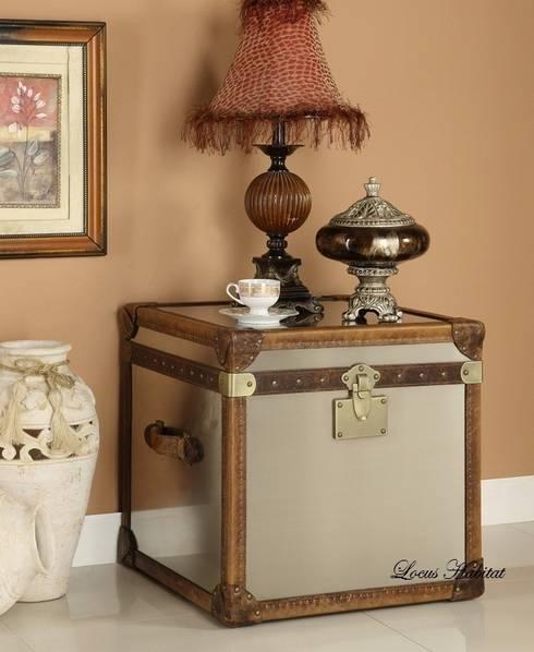 Leather Storage Trunks: classic Living room by Locus Habitat