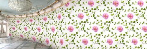 Muurbloem Design Studio_Collection Flowers + Leaves_Deathnettle&Rose:  Muren & vloeren door Muurbloem Design Studio
