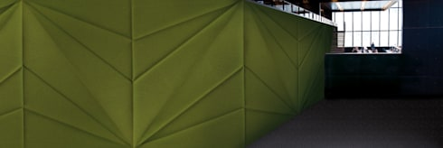 Muurbloem Design Studio_Collection Folds & Pleats_FoldedFabric_GR:  Muren & vloeren door Muurbloem Design Studio