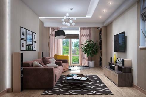 Дизайн квартиры в Севастополе в современном стиле: Гостиная в . Автор – Студия дизайна Interior Design IDEAS