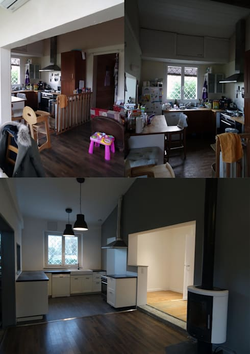 Rénovation et Extension de Maison :  de style  par Clemence de Mierry Grangé