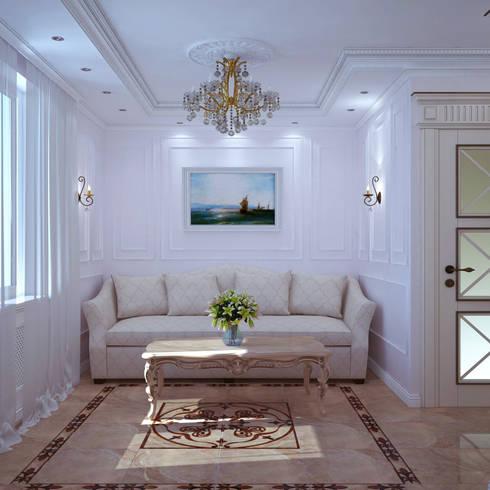 Квартира в Судаке в неоклассическом стиле: Гостиная в . Автор – Студия дизайна Interior Design IDEAS
