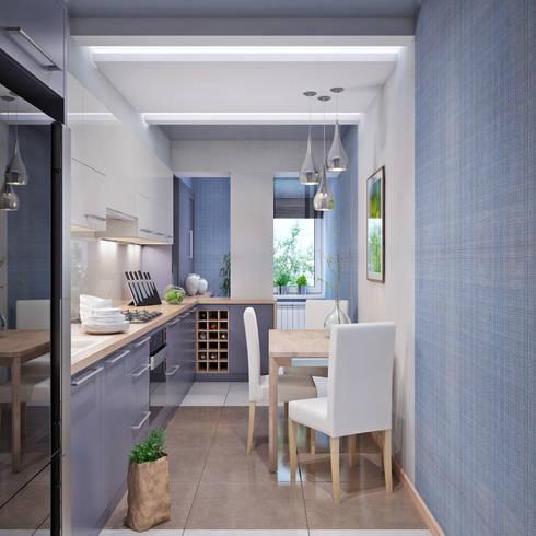 Дизайн квартиры в Севастополе в современном стиле: Кухни в . Автор – Студия дизайна Interior Design IDEAS