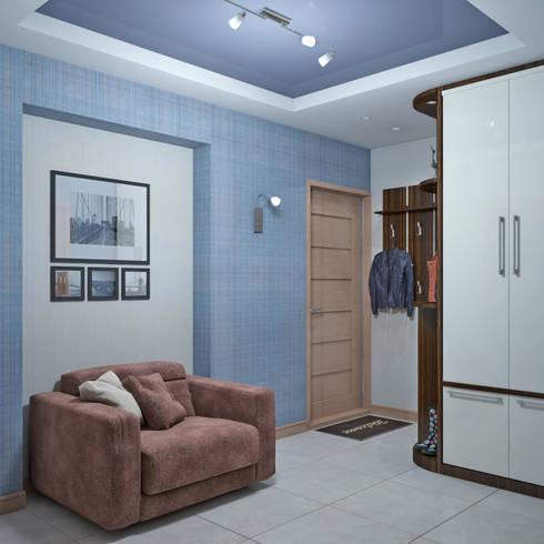 Дизайн квартиры в Севастополе в современном стиле: Коридор и прихожая в . Автор – Студия дизайна Interior Design IDEAS