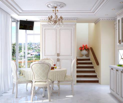 Квартира в Судаке в неоклассическом стиле: Столовые комнаты в . Автор – Студия дизайна Interior Design IDEAS