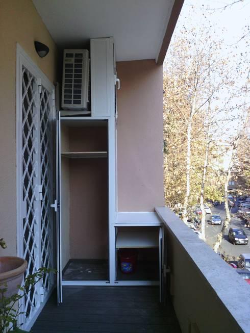Roma Montesacro - Ristrutturazione appartamento anni '60 : Terrazza in stile  di Francesca Ianni architetto