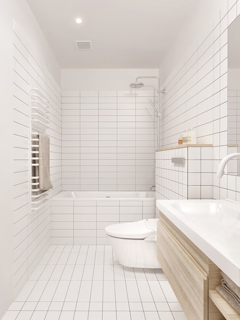 Интерьер IL: Ванные комнаты в . Автор – INT2architecture
