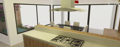 Projeto de Interiores de Residência: Cozinhas modernas por start.arch architettura