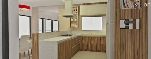 Projeto de Interiores de Residência: Cozinhas  por start.arch architettura