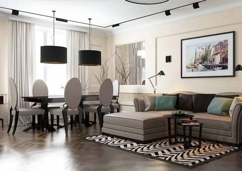 Гостиная в стиле Ар деко с современными элементами: Гостиная в . Автор – Павел Белый и дизайнеры
