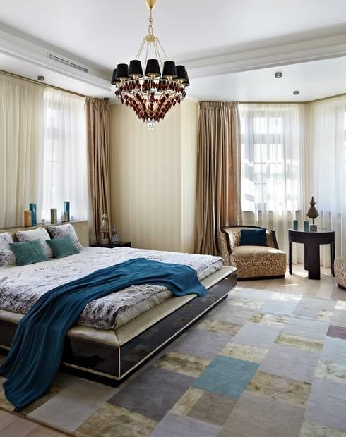 загородный дом 450 кв м: Спальни в . Автор – mill-studio.ru