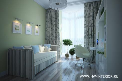 Дизайн квартиры в ЖК Лосиный остров:  в . Автор – дизайн-студия Nw-interior