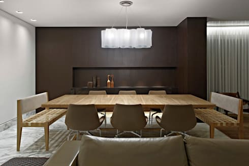 Para ver e viver!: Salas de jantar modernas por Jaqueline Frauches Arquitetura e Interiores