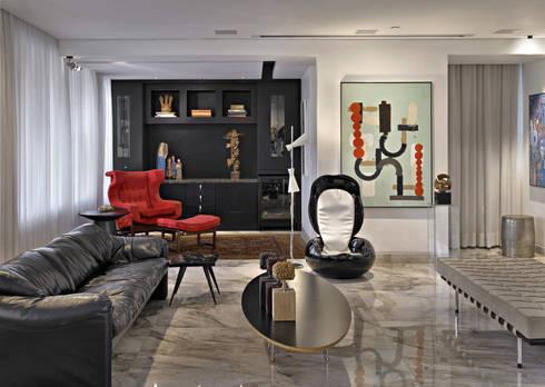 Art, home: Salas de estar modernas por Jaqueline Frauches Arquitetura e Interiores