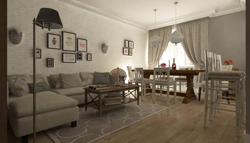 организация пространства в таунхаусе: Гостиная в . Автор – Makhrova Svetlana